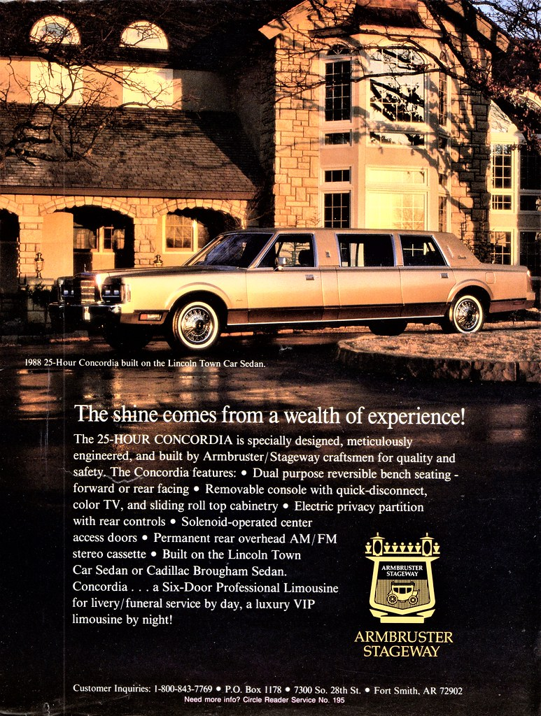 1988 Lincoln Concordia Town Car Limousine By Armbruster St Flickr