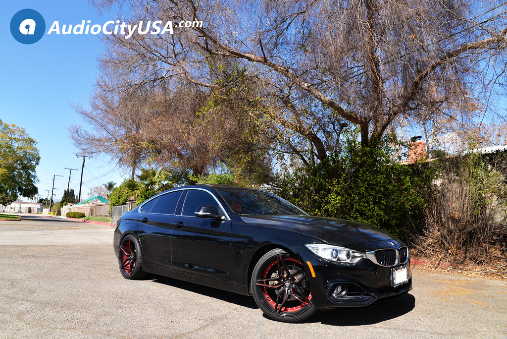 2015 BMW 428i Grancoupe On 20 Marquee Wheels 3259 Gloss Black With Red Inner Extreme