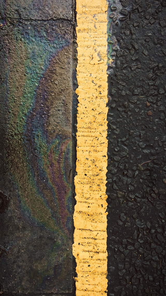rainbow roadside markings