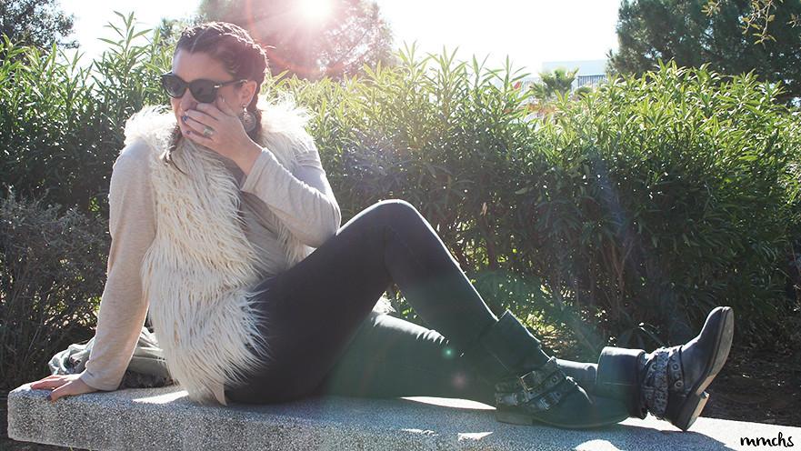 look chaleco de pelo Zara Kids