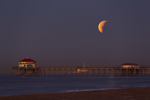 Super Moon over HB | by RyanLunaPhotography