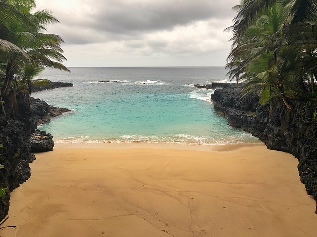 Praia Bateria en Isla Rolas (Santo Tomé y Príncipe)