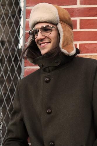 Loden vintage occhiali cappello cappotti soprabiti inverno