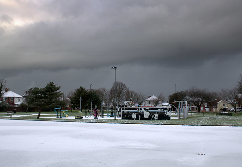 Grim weather over Ashton Park, Preston | by Tony Worrall