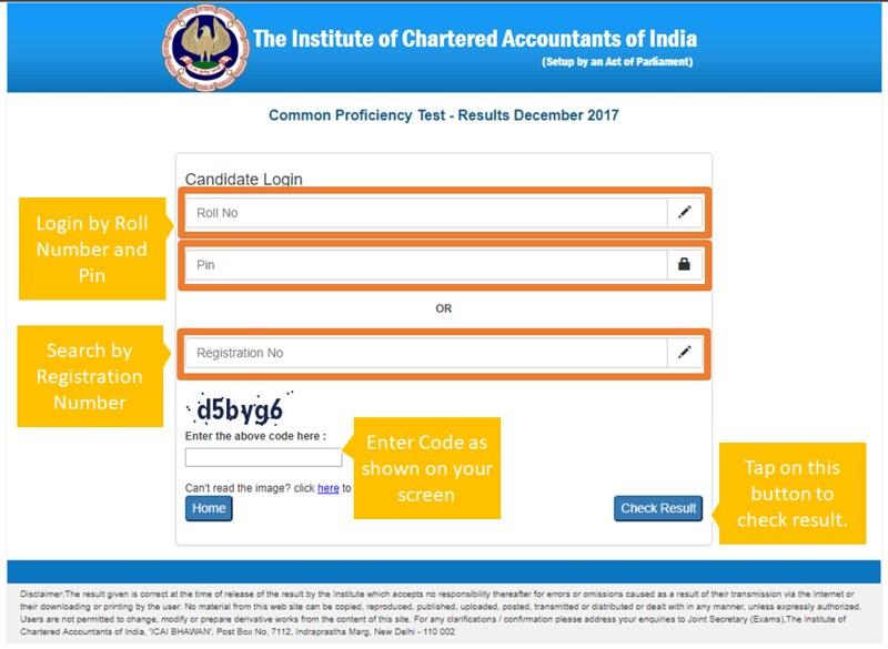 CA CPT Result Dec 2017 exam Announced! Check Here Result, Pass Percentage