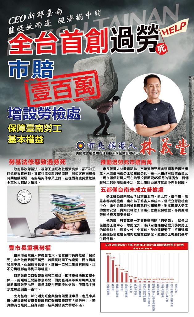 台南,勞檢,勞工局,勞基法,100萬,豐市長