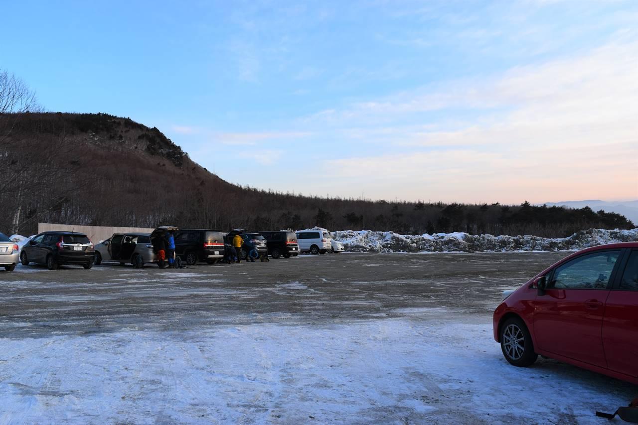 あだたら高原スキー場駐車場