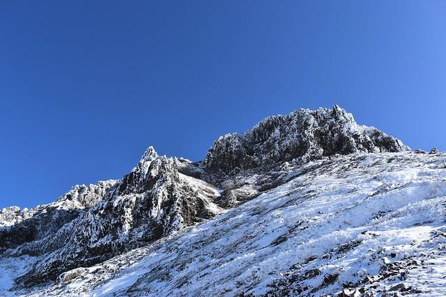 冬の赤岳(八ヶ岳)