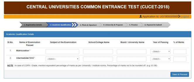 CUCET 2018 Application Form / Online Registration (Over) – Apply Here