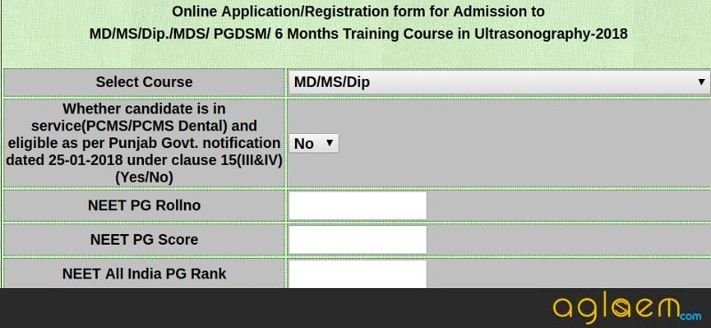 Punjab PG Medical 2018 – Application Form, Eligibility