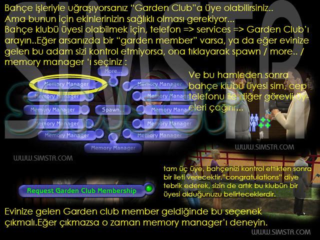 The Sims 2 Seasons Request Garden Club Membership Bahçe Kulübü Üyesi Olmak
