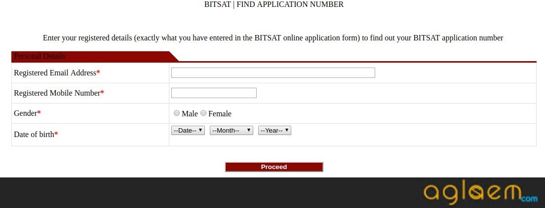 BITSAT 2019 Application Form