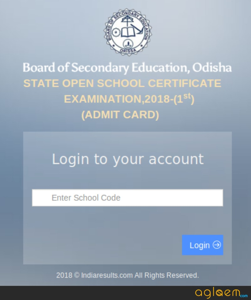 SIOS Odisha 2018 Admit Card Released - Download Here