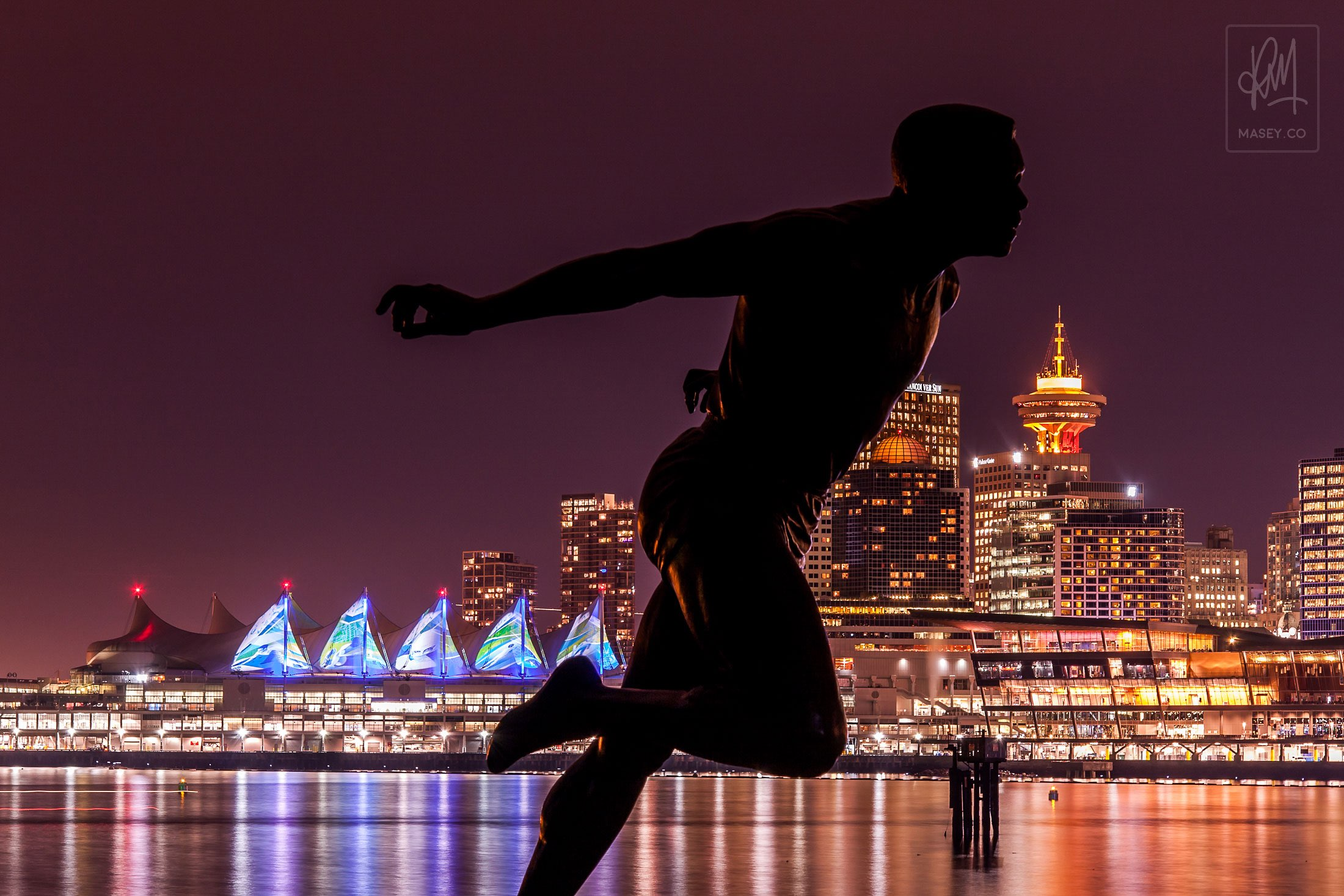 The Stanley Park statue of local Olympian Harry Jerome seemed like an obvious candidate for a visit.