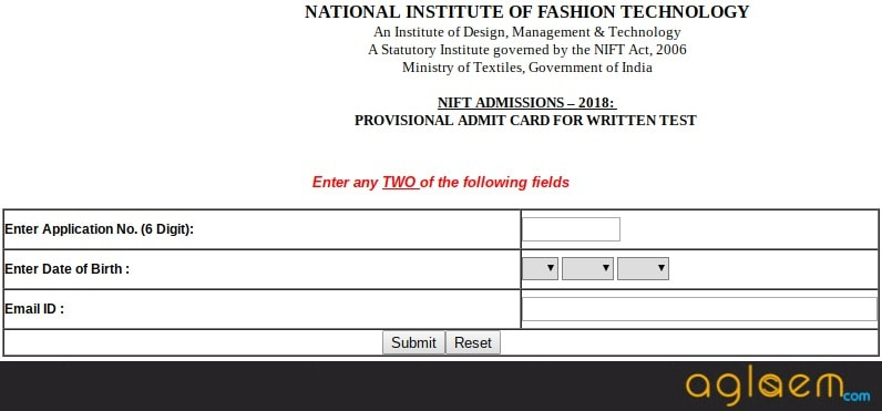 NIFT 2018 Admit Card Released   Download Here
