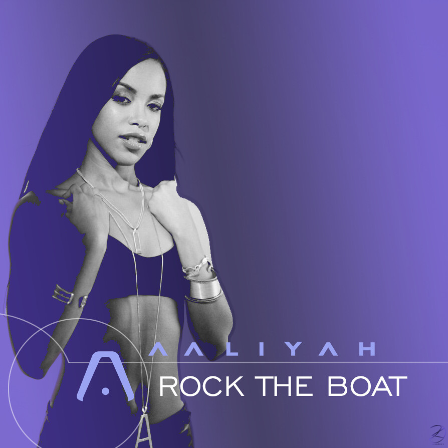 Aaliyah - Rock The Boat   Album cover recreated by ...