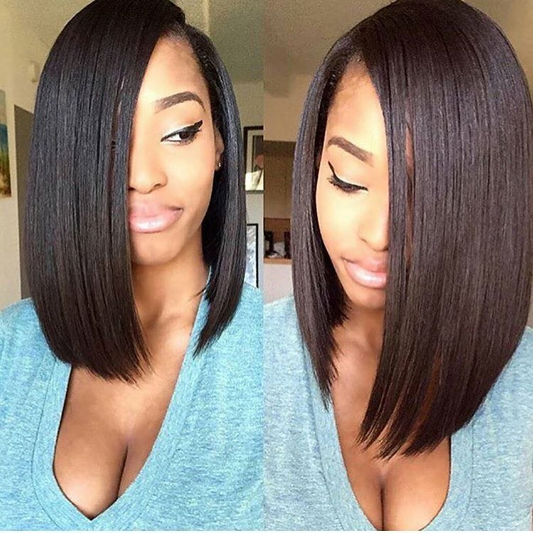 Straight Human Hair Weave This Blunt Cut Bob Is Gorgeous Flickr