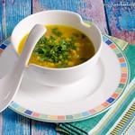 Maissuppe mit Reis und Ingwer