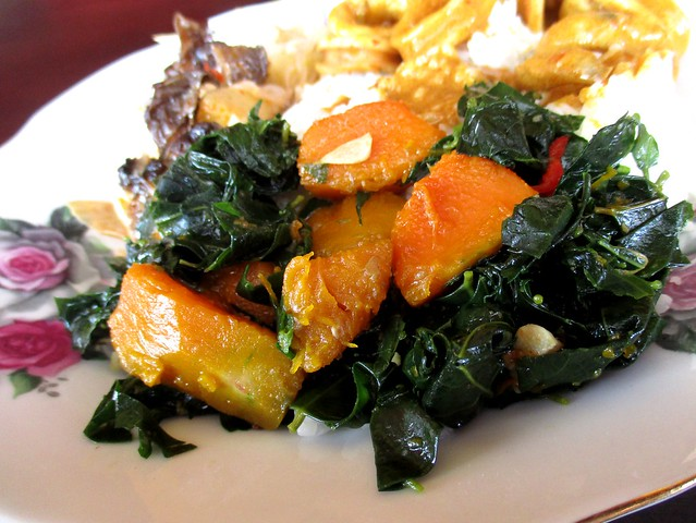 Pumpkin and cangkuk manis