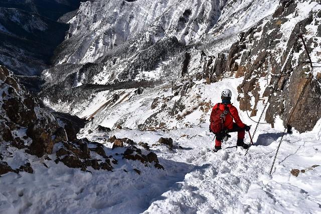 冬の赤岳・文三郎尾根 雪山登山