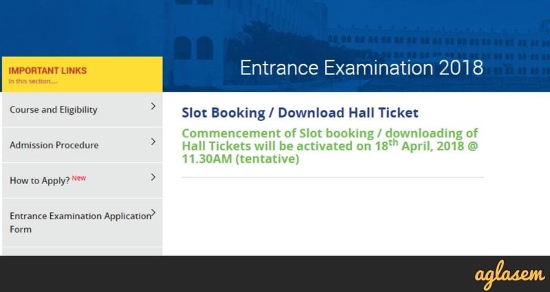 Sathyabama University 2018 Slot Booking