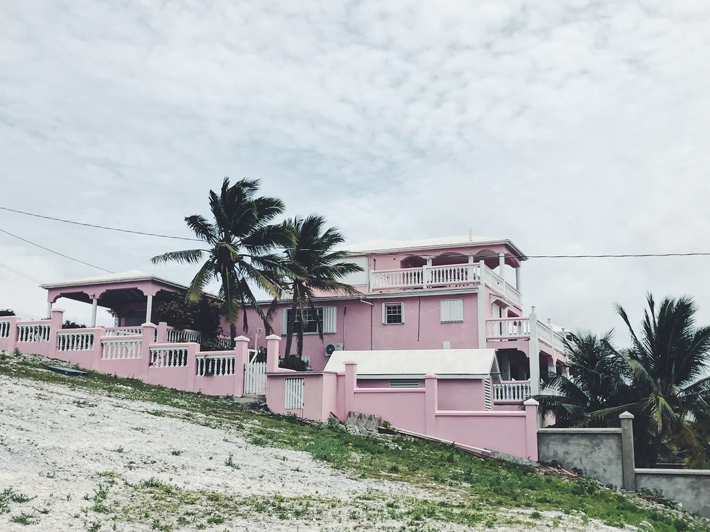 pink mansion in Grand Turk