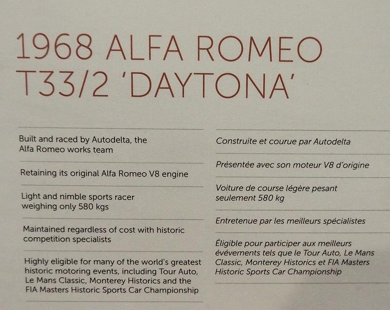 Alfa Romeo 33/2 Daytona 1968 - Retromobile 2018 25337590117_0f54d88d99_c