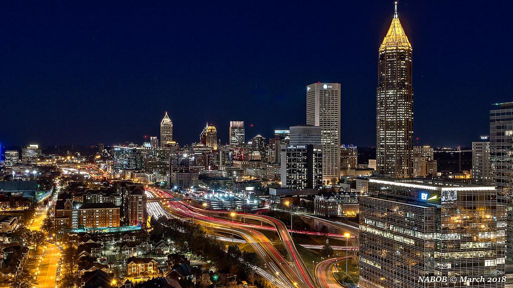 Atlanta Ga Midtown Skyline Viewed From The South Flickr
