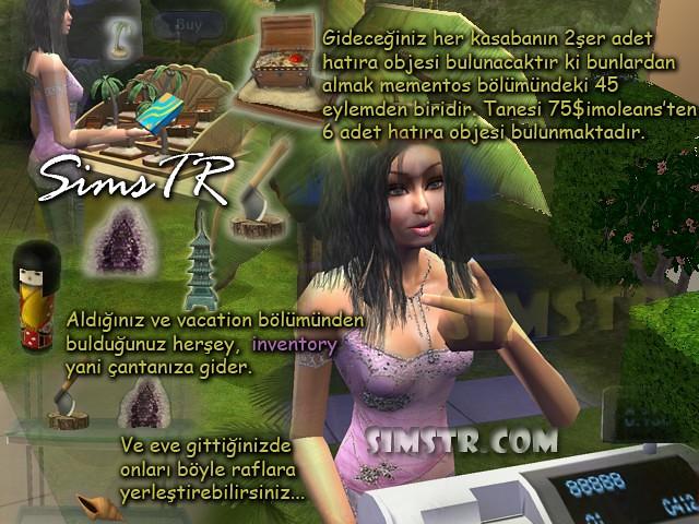The Sims 2 Bon Voyage Mementos Hatıra Objeleri