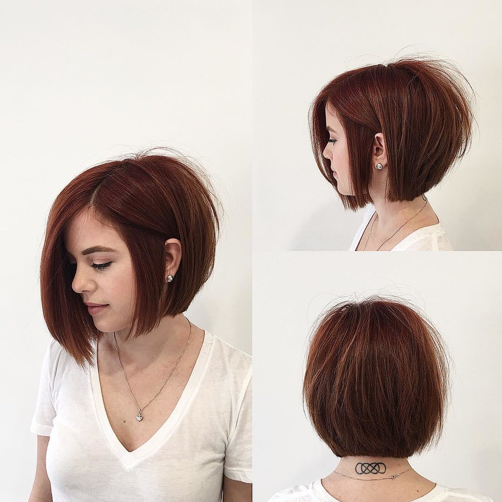 5 Hairbrushes Defying The Undone Hair Trend: Soft Graduated Bob With Clean Lines And Warm Brunette Colo