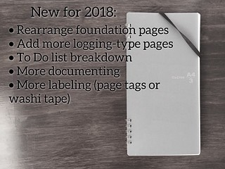 bujo New 2018 | by thepapergoddess
