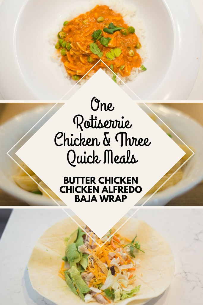 Are you looking for fast and affordable home cooked meals? These three recipes can be made from one rotiserrie chicken so you have three meals planned at once.