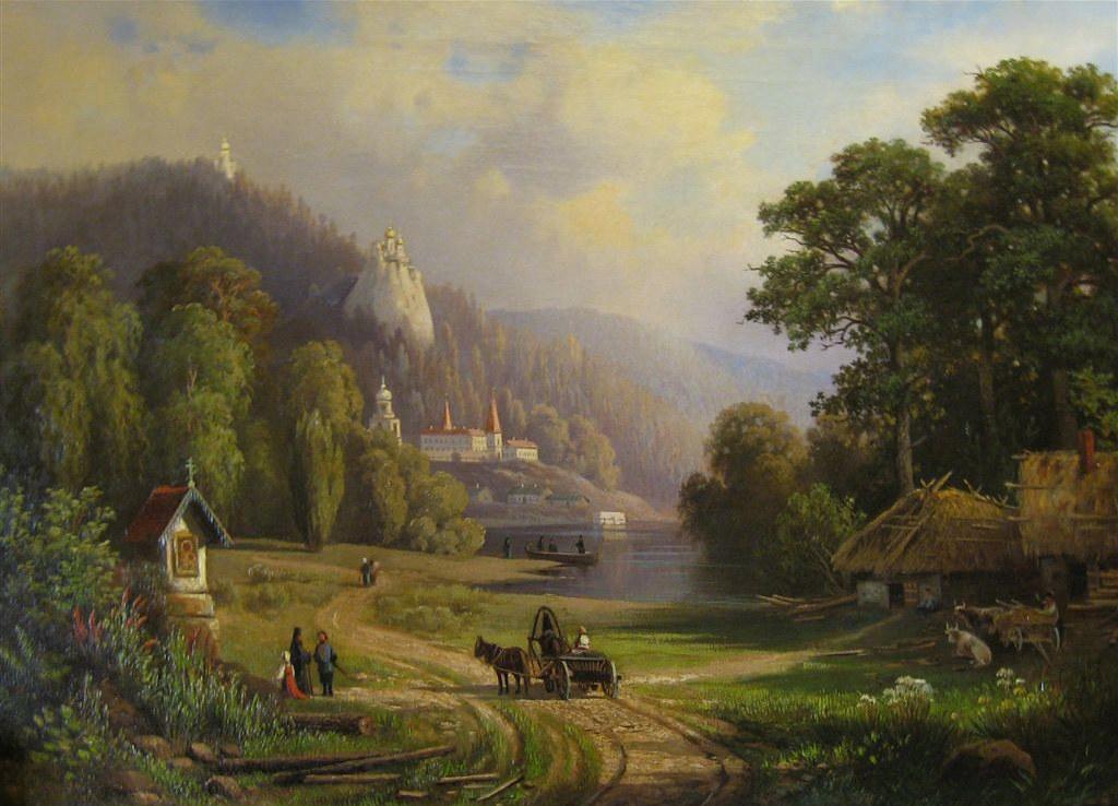 Картина художника Миронова, вторая половина XIX века