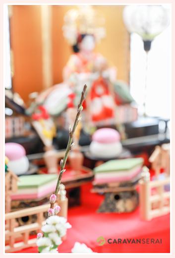 本土神社(岐阜県多治見市)でお宮参り・100日祝い初節句写真の出張撮影 ご自宅でお食い初め ママの手作り料理