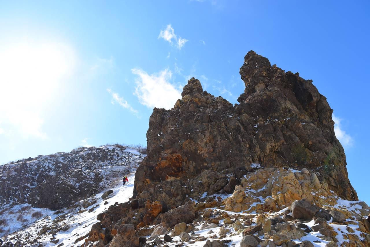 那須岳・剣ヶ峰の岩場