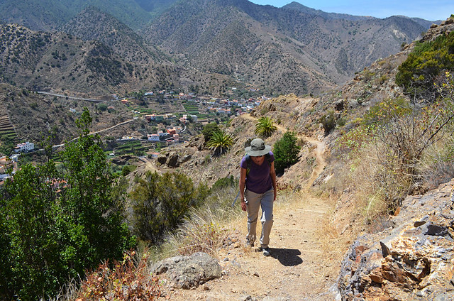 Walking from Vallehermoso, La Gomera, Canary Islands