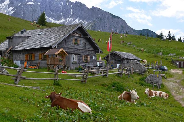 Stuhlalm above Gosausee, Austria