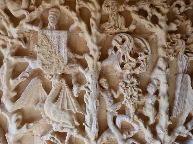 Detalle del castillo de Belmonte (Cuenta, Castilla-La Mancha)