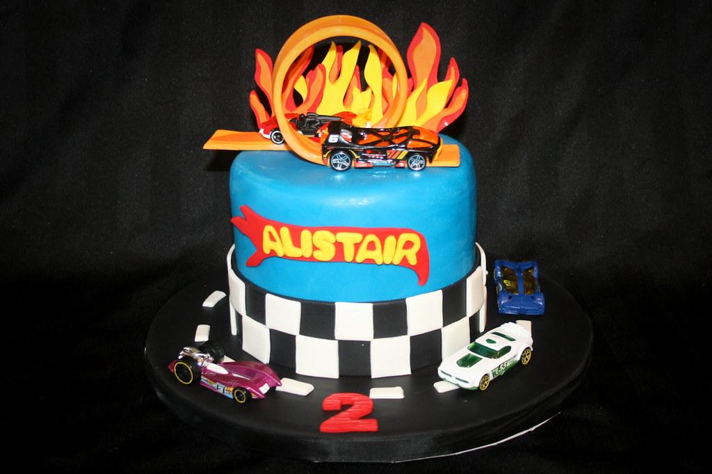 Hot Wheels 2nd Birthday Cake Alicia Bryson Flickr