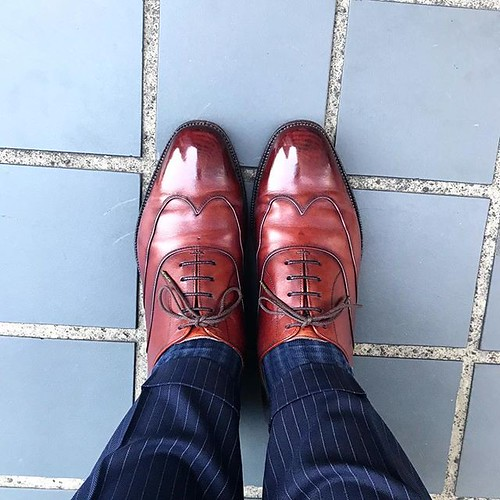 shoes Scotch Grain 早めに出勤しました。...