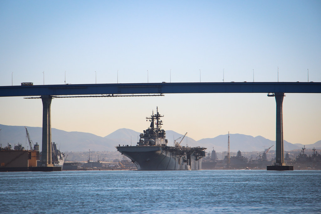 SAN DIEGO (Mar. 6, 2018) - Sailors and Marines from the USS Essex (LHD 2) Amphibious Ready Group (ARG) departed Naval Base San Diego yesterday, Monday, Mar. 5.