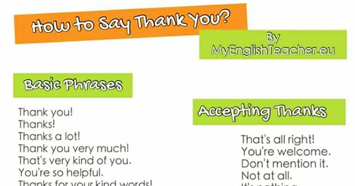 How to Say Thank You & Accept Thanks in English 5