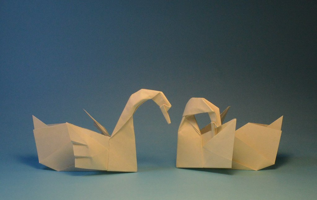 Origami Swans Designed And Folded By Me Video Tutorial Ba Flickr