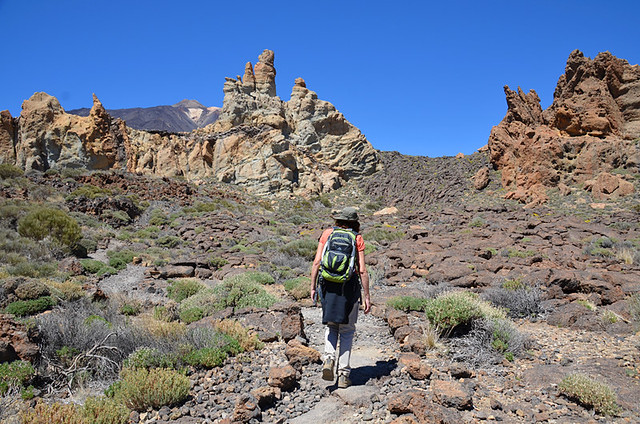 Walking around Los Roques, Tenerife