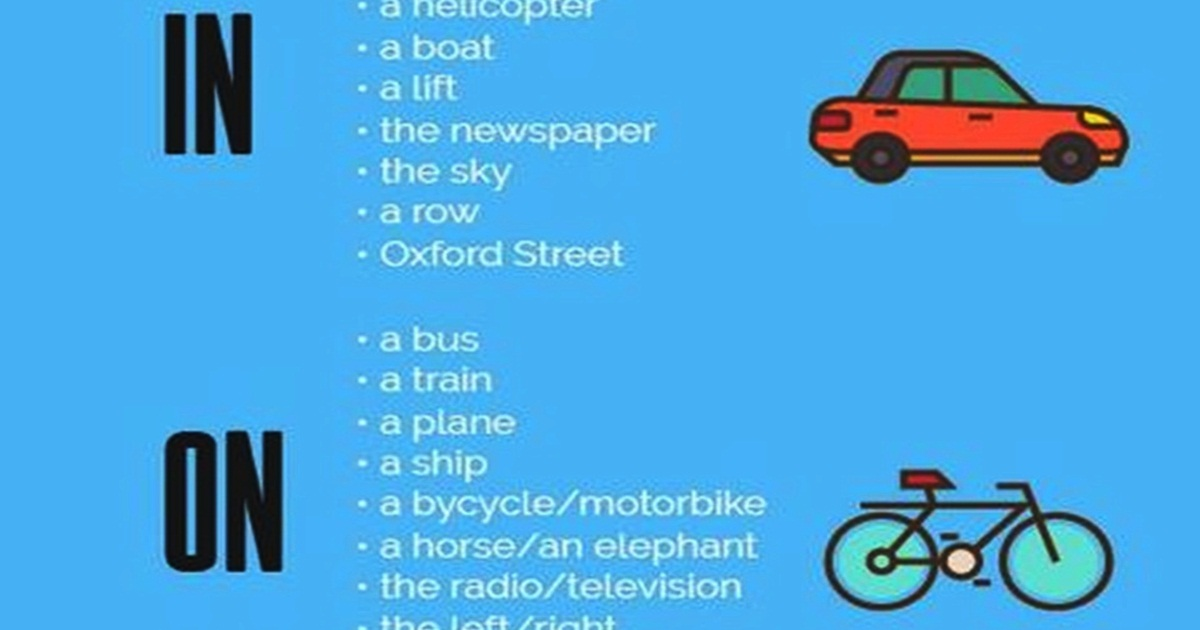 Prepositions in English: AT – ON – IN 5