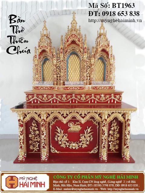 BT1964a Ban Tho Thien Chua do go mynghehaiminh