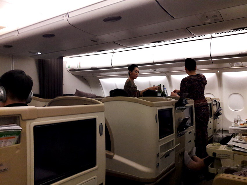 Review of Singapore Airlines flight from Seoul to Singapore in Business