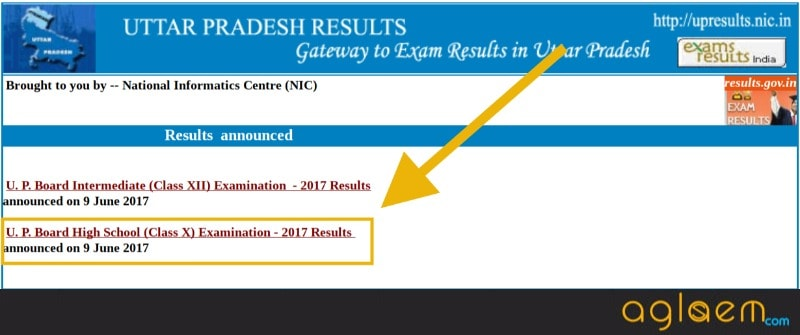 UP Board 10th Result 2018