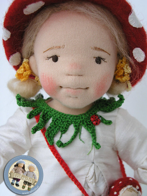 Ada - toadstool girl - art doll / 12 inch