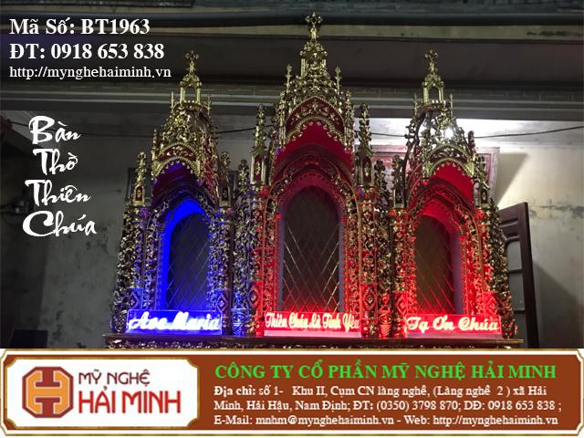 BT1964k Ban Tho Thien Chua do go mynghehaiminh